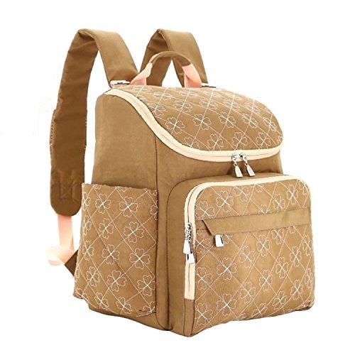 Mummy Maternity Nappy Diaper Bag Large Capacity Baby Bag Travel Backpack Camel ()