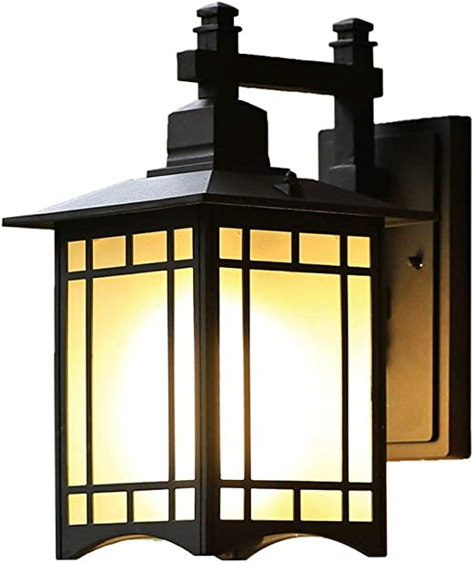 GENGJ Exterior Al Aire Libre Impermeable Lámpara de Pared de Aluminio Patio al Aire Libre japonés Luces de jardín Balcón Pasillo Pasillo Lámpara de Pared: Amazon.es: Hogar
