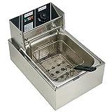 6L Electric Deep Fryer Commercial Tabletop Restaurant Frying Basket Scoop 2500W