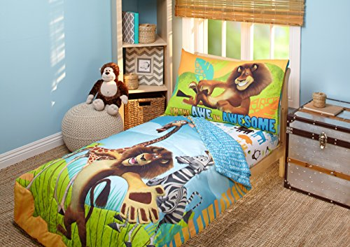 Toddler Set - Disney DreamWorks Animation Madagascar Behold My Mane 4 Piece Toddler Bedding Set, Toddler