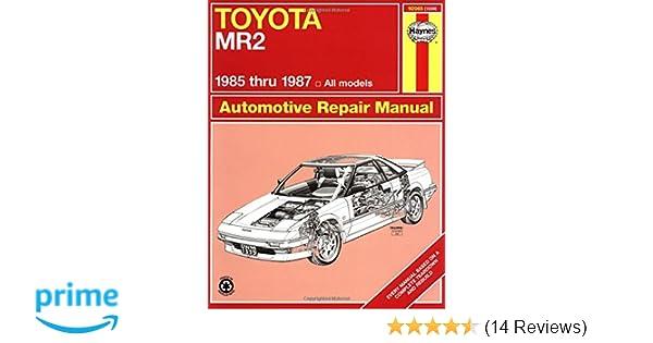 toyota mr2 85 87 haynes repair manuals haynes 0038345013393 rh amazon com