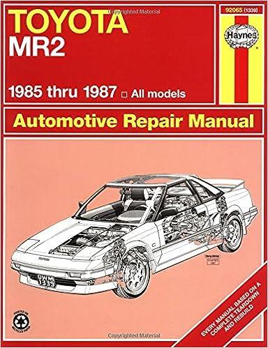 Toyota mr2 8587 haynes repair manuals haynes 0038345013393 toyota mr2 8587 haynes repair manuals 1st edition fandeluxe Images