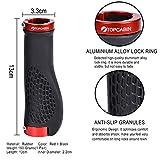 TOPCABIN Ergonomic Design Bicycle Handlebar Grips Widen Holding Surface (red)