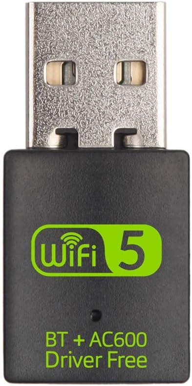 RMFC USB WiFi Bluetooth Adaptador, WiFi Antena 600Mbps Doble Banda 2.4G/5.8G Bluetooth 4.2 Wireless WiFi dongle Receptor Externo Mini Dongle Tarjeta de Red para PC Laptop Desktop Win10/8/8.1/7