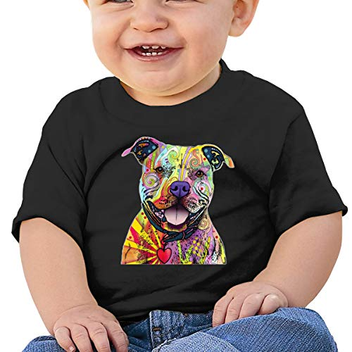 LLiYing-D Beware of Pit Bulls 6-24 Months Baby Boys Girls Summertime T-Shirts Black (Best Sports Bloopers Of All Time)