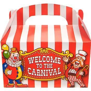 Fun Express Under the Big Top Empty Favor Boxes Party Accessory , 1 (Carnival Themed 1st Birthday)