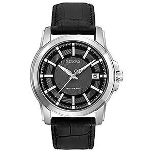 Bulova 96B158 - Reloj Analógico de Cuarzo para Hombre, correa de Cuero color Gris