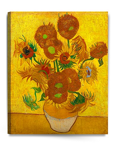 DecorArts - Sunflowers, by Vincent Van Gogh. The Classic Arts Reproduction. Art Giclee Print On Canvas, Stretched Canvas Gallery Wrapped. 24x30