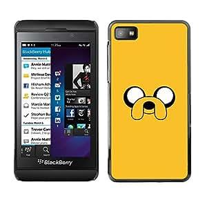 Design for Girls Plastic Cover Case FOR Blackberry Z10 Yellow Cartoon Comic Character Eyes Dog OBBA