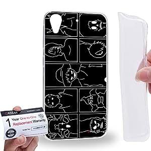 Case88 [HTC Desire 626 / 626s / 626G] Gel TPU Carcasa/Funda & Tarjeta de garantía - One Piece One Piece 0511