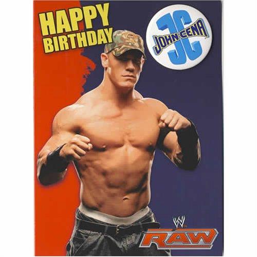 WWE Birthday Card John Cena with badge 5 x 7 Amazoncouk Toys – John Cena Birthday Card