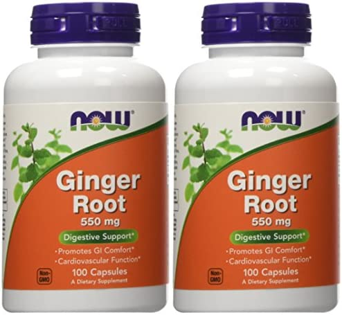 Ginger Root 550mg 100 Capsules Pack of 2