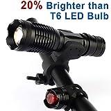 Cheap Motoraux L2 Bicycle Light Set Super Bright LED Headlight, LED Taillight Kits (L2-bike light)