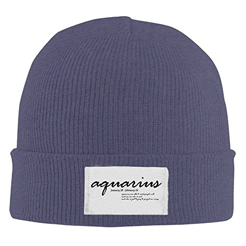 Aquarius Read People See Real Image One Cool Designer Beanie Hat Cute Best Knit - Hat Best Designers