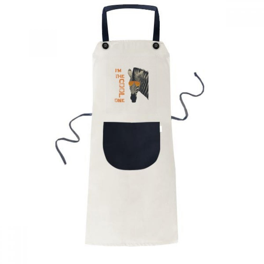 DIYthinker Sunglasses Zebra Cool Brown Animal Apron Cooking Bib Black Kitchen Pocket Women Men