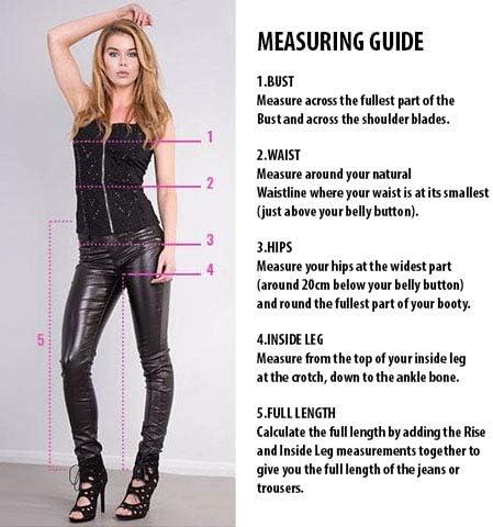 Glook Jeans Skinny a Vita Alta Donna