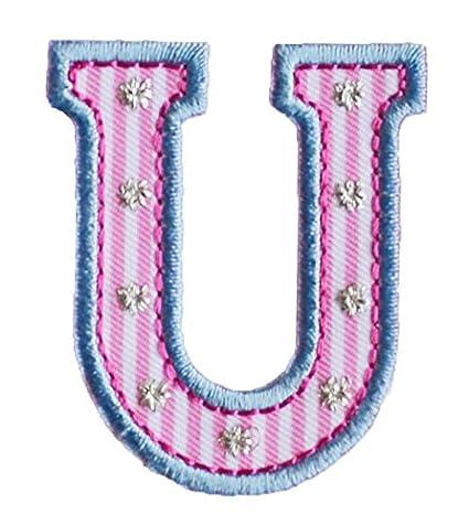 A maiuscolo 5cm rosa azul Creativo Costura Chicos Chica Bueno para reparar ropa chaqueta almohada bolsa roca banderín mochila techo pañuelo pantalones ...