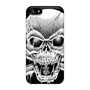 New Premium Flip Case Cover Skull Skin Case For Iphone 5/5s