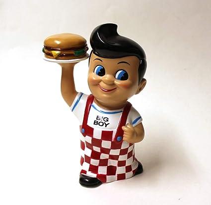 Collectible Frisch/'s Restaurants Big Boy Coin Bank with Hamburger New in Box