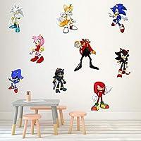 Sonic The Hedgehog pegatinas Anime Pegatina Sonic para computadoras portátiles patinetas Maletas Cascos teléfonos…