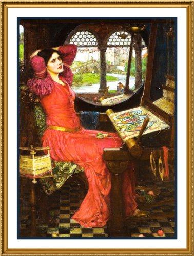 I am Half Sick Shadows Said the Lady of Shalott inspired by John William Waterhouse Counted Cross Stitch Chart
