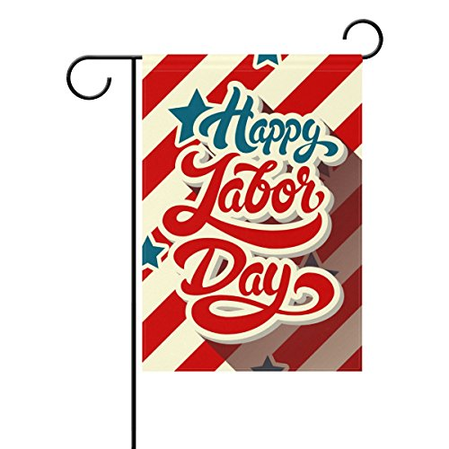 My Daily Happy Labor Day Decorative Double Sided House Flag 28 x 40 inches For Sale