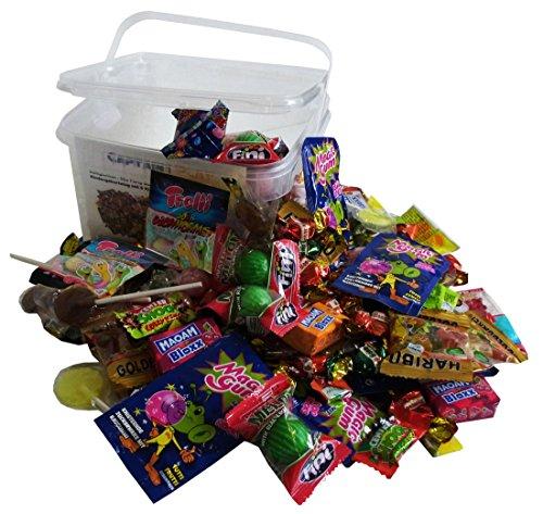 Süßigkeiten - Mix Party Box ohne Schokolade 192-teilig, für Kindergeburtstag mit 6 Kinder, 1er Pack (1 x 1 kg)