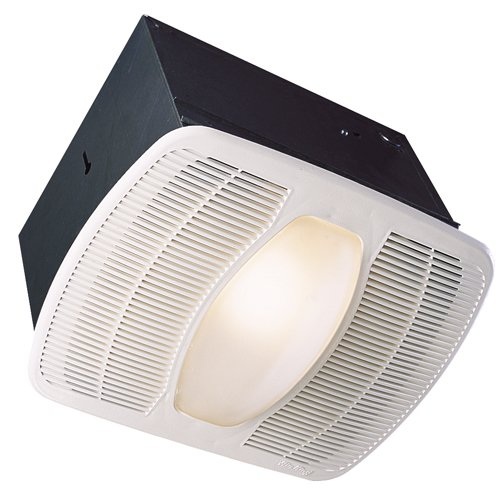 Air King AK100L Deluxe Bath Fan with Light and Night Light, Rectangular (Rectangular Duct Air)