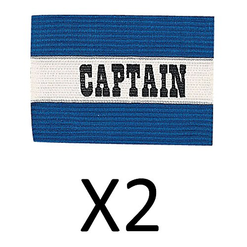 Champion Sports Youth Soccer Captains ARM Band Redblue Blue CYP-BLU (2-Pack) - Referee Armband