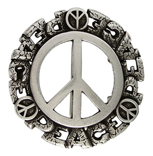 - Cut-out Peace Signs Replacement Belt Buckle