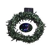 angel3292 Leaf Garland 100LED Solar Powered Fairy String Light Decor for Christmas Wedding