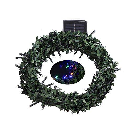 angel3292 Leaf Garland 100LED Solar Powered Fairy String Light Decor for Christmas Wedding by angel3292