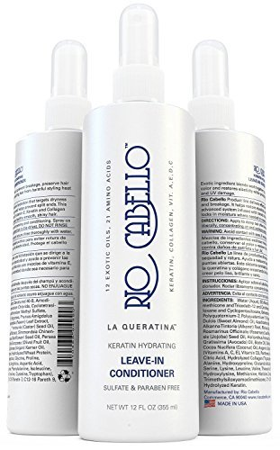 Salon Grade Keratin Hydrating Leave-In Conditioner (Color-Safe) - Anti Frizz & Sulfate Free - Infused with Argan Oil, Biotin Oil, & 10 Exotic Oils, 21 Amino Acids, Collagen, & Vitamin ()