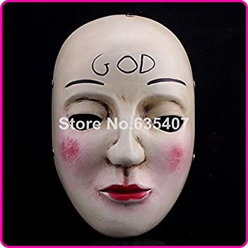 2015 2015 resin the purge anarchy god mask movie fancy dress adult child - Purge Anarchy Masks For Halloween