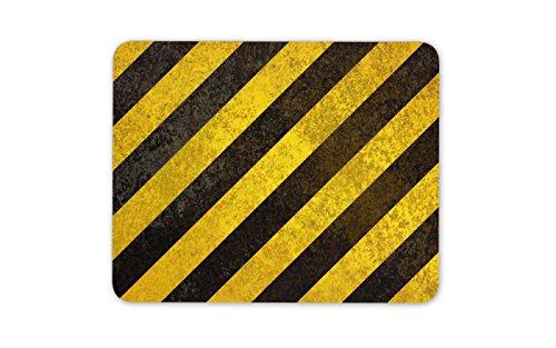 Warning Stripes Mouse Mat Pad - Hazard Builder Tradesman Dad Gift Computer #8884