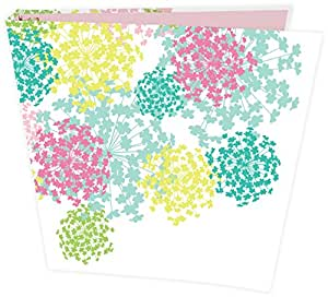 """bloom daily planners Binder (+) 3 Ring Binder (+) 1 Inch Ring (+) 10"""" x 11.5"""" - Pink Bloom"""