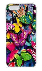 IMARTCASE iPhone 5S Case, Natural Colorful Butterfly PC Hard Case Cover for Apple iPhone 5S Transparent