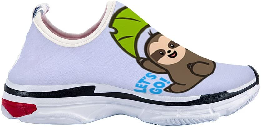 Mageed Girls Boys Kids Sneakers Breathable Sport Shoes Girls Fashion Love Sloths Sneakers