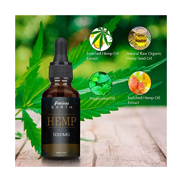 Precious Earth Hemp Oil, Premium Organic, Made in USA