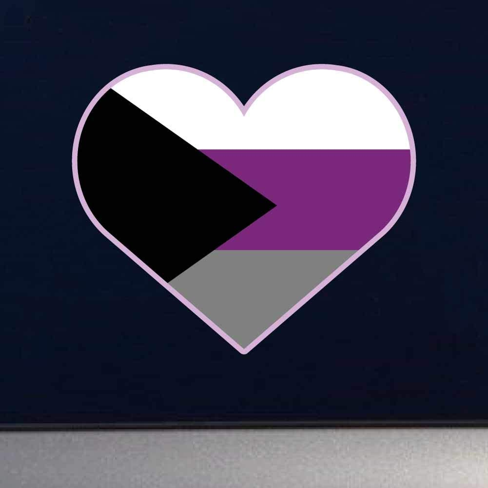 Dark Spark Decals Pansexual LGBT Pride Heart Cars D/écor Laptops 4 Inch Full Color Vinyl Decal for Indoor or Outdoor use Windows and More