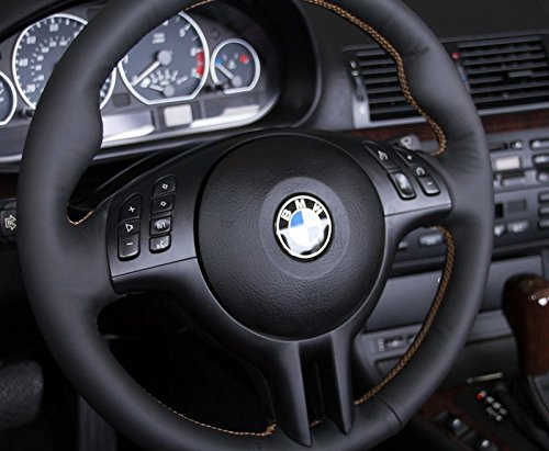 BMW 3-series E46 1999-04 steering wheel cover (3-spoke) by (3 Spoke Custom Steering Wheel)