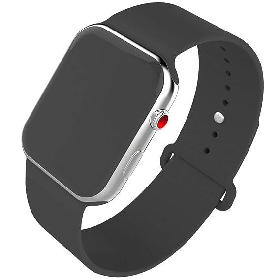 Smart Watch Band 42mm, Jihibo Silicone Watch Band for Apple Watch 42mm Series 3 / 42mm Series2 / 42mm Series1/ 42mm Sport /42mm Edition. (Black, 42 ...