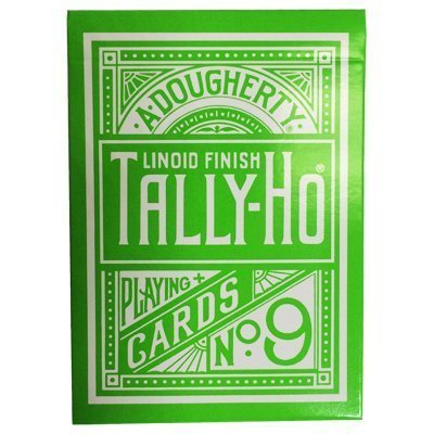 Green Tally Ho Reverse Circle Back Limited Edition Playing Cards