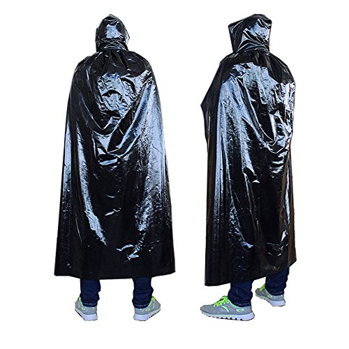 Gobuy Unisex Halloween Hooded Robe Knight Full Length Wizard Cape Festival Accessory