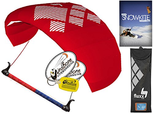 HQ4 Fluxx 1.3M Trainer Kite TR plus Snowkiting DVD Bundle (4 items) Includes How To Snowkite Instructional DVD + WindBone Kite Lifestyle Decals + WindBone Key Chain : Snow Kite Foil Traction