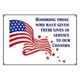 CafePress Honoring Those Who Have Given - Vinyl Banner, 44''x30'' Hanging Sign, Indoor/Outdoor