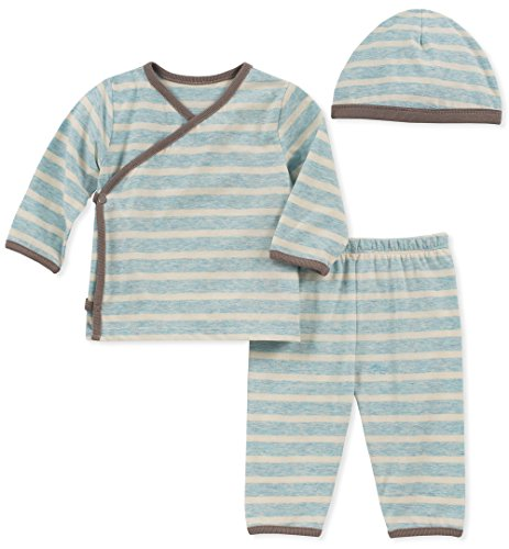 absorba Baby Boys 2 Pieces Pants Set-Hat, Blue, 0-3 Months ()