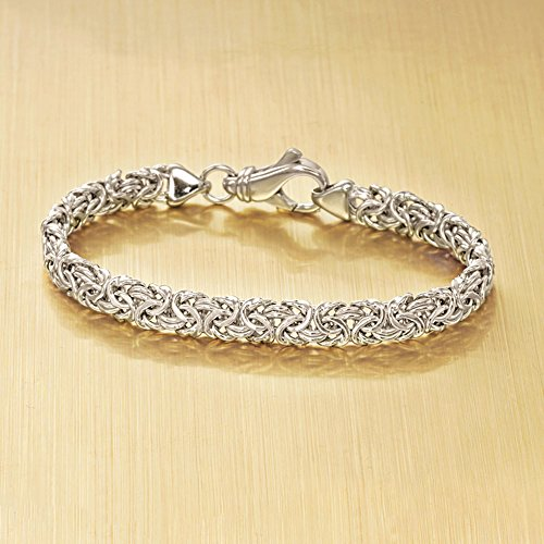 ross simons sterling silver byzantine bracelet includes