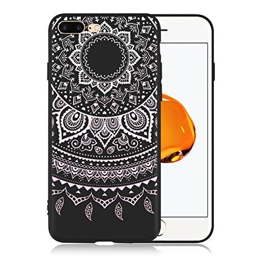 Funda para Apple iPhone 7 Plus / 8 Plus , IJIA Puro Negro DONT TOUCH MY PHONE TPU Silicona Suave Cover Tapa Caso Parachoques Carcasa Cubierta Case para Apple iPhone 7 Plus / 8 Plus (5.5) Black-WM86