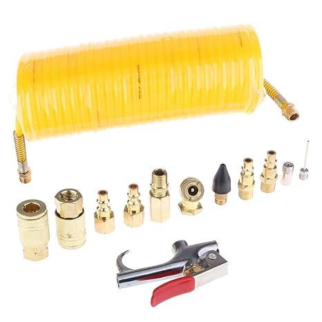 Homyl Compresor de Aire Kit Manguera Bobina Casa de Muñecas Herramientas Manual Eléctrica